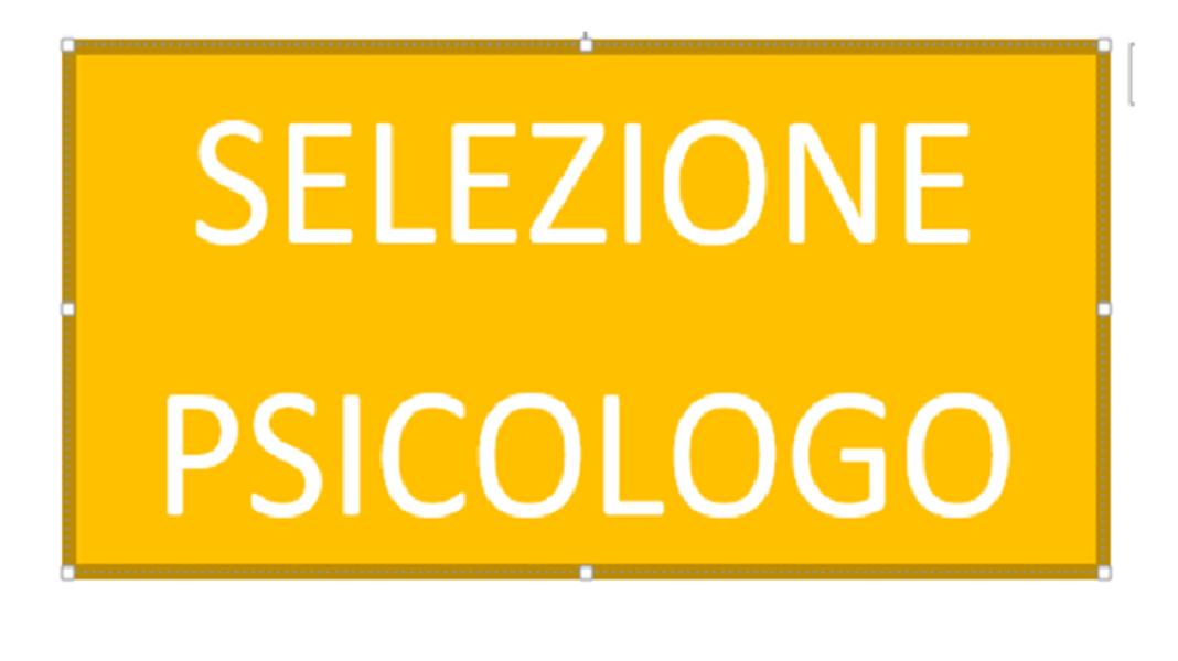 SELEZIONE PSICOLOGO