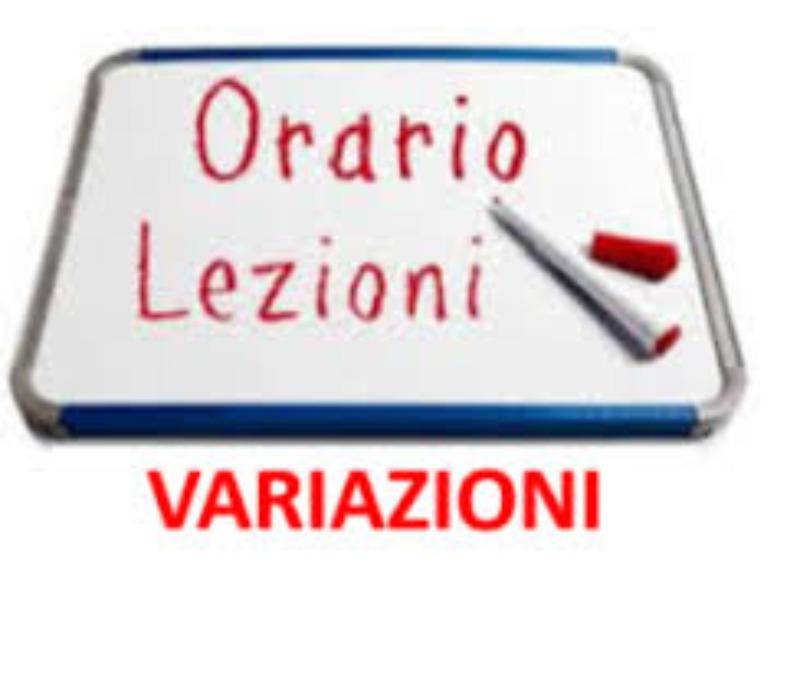 VARIAZIONE ORARIO DI INGRESSO/USCITA   26 febbr...