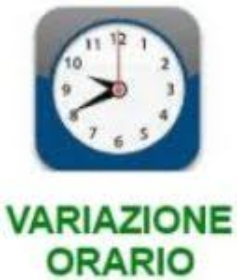 VARIAZIONE ORARIO DI INGRESSO/USCITA   17 genna...
